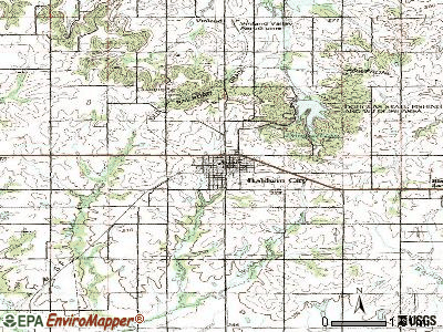 Baldwin City topographic map