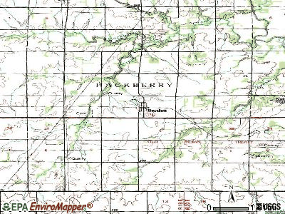 Basehor topographic map