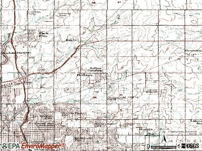 Belleville topographic map