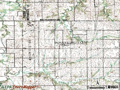 Bern topographic map
