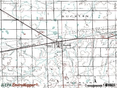 Bucklin topographic map
