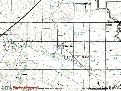 Buhler topographic map