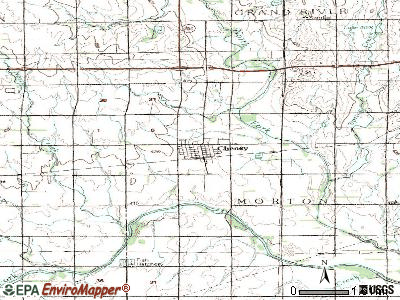 Cheney topographic map