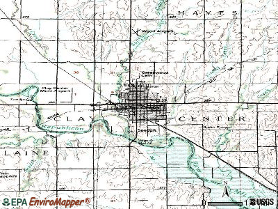 Cimarron topographic map