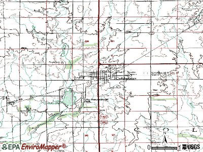Coldwater topographic map
