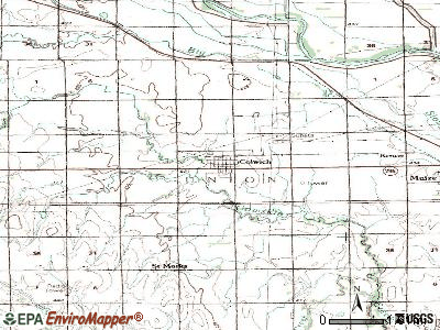 Colwich topographic map