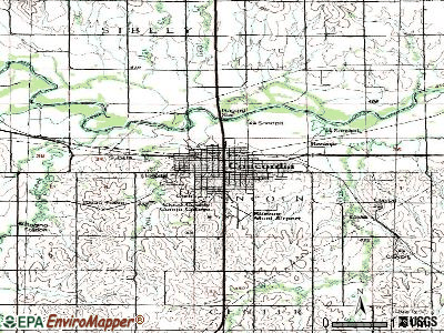 Concordia topographic map