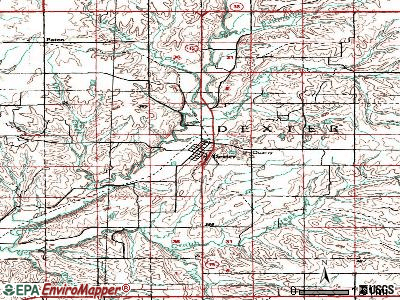 Dexter topographic map