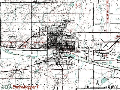 Dodge City topographic map