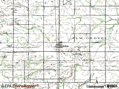Edna topographic map