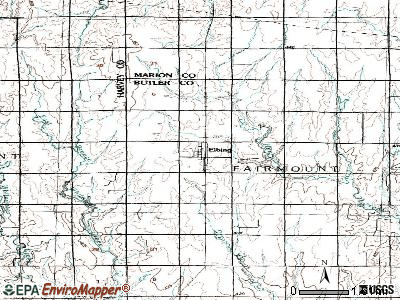 Elbing topographic map