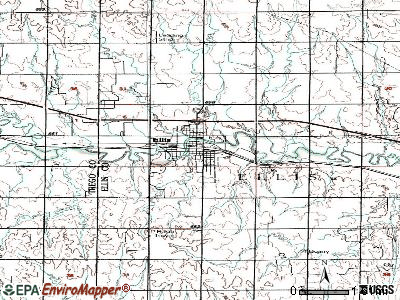 Ellis topographic map