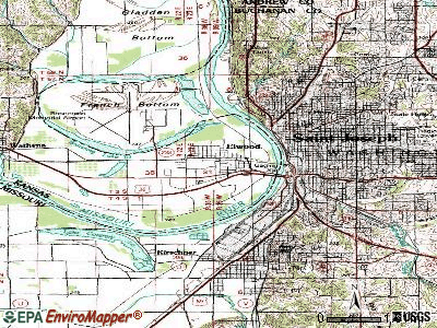 Elwood topographic map