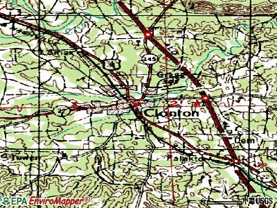 Clanton topographic map