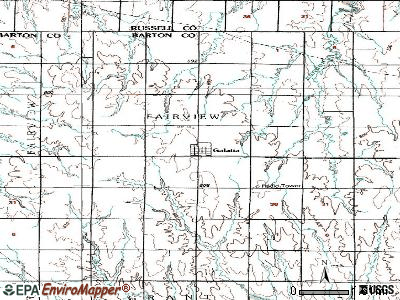Galatia topographic map