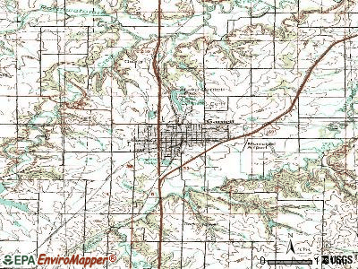 Garnett topographic map