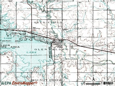 Glen Elder topographic map