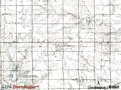 Goddard topographic map