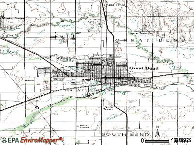 Great Bend topographic map