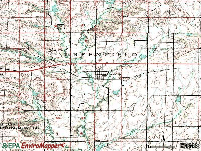 Grenola topographic map