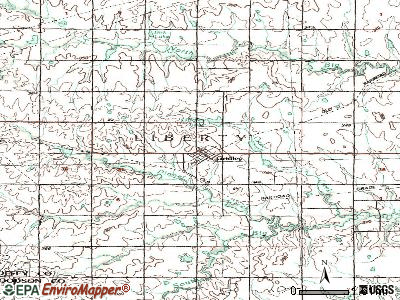 Gridley topographic map