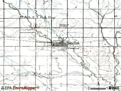 Halstead topographic map