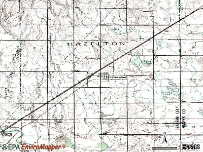 Hazelton topographic map