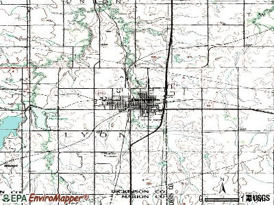 Herington topographic map