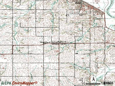 Highland topographic map