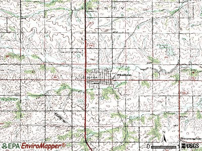 Holton topographic map