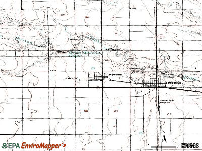 Horace topographic map
