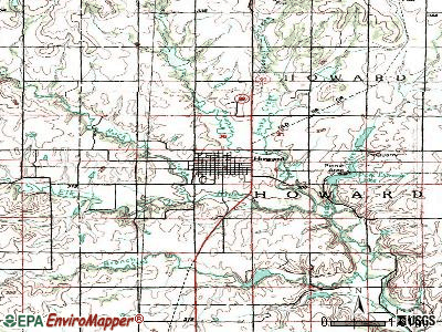 Howard topographic map