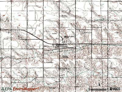 Hoxie topographic map