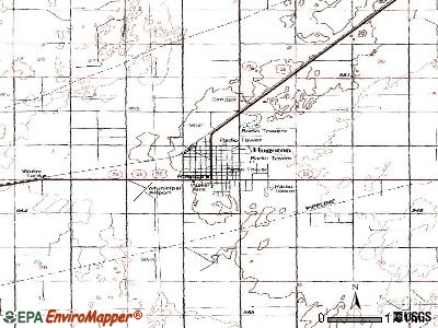 Hugoton topographic map