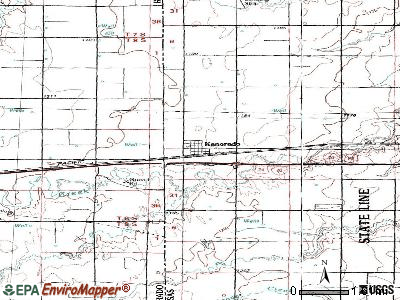 Kanorado topographic map