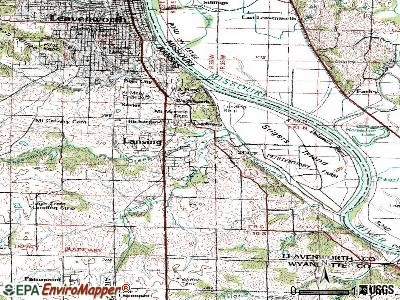 Lansing topographic map