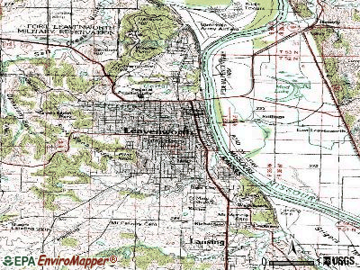 Leavenworth topographic map