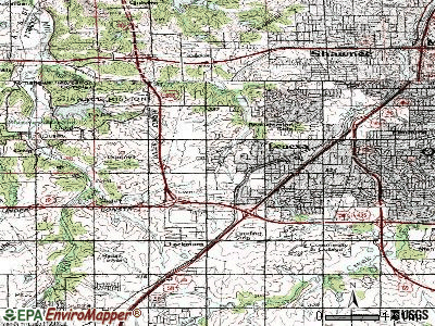 Lenexa topographic map