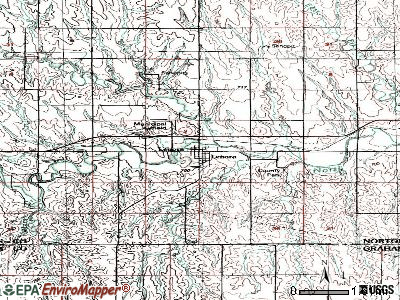 Lenora topographic map