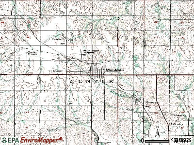 Mankato topographic map