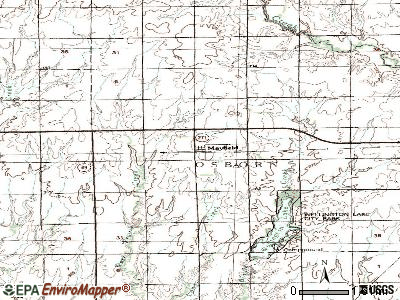 Meriden topographic map
