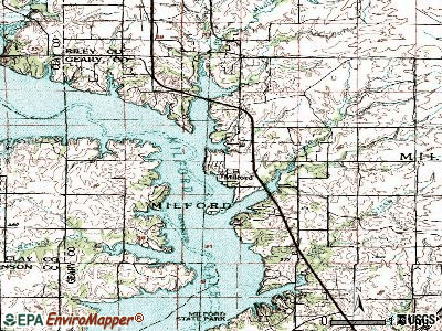 Milford topographic map