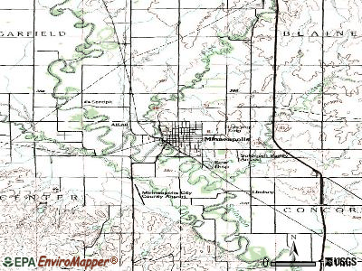 Minneapolis topographic map