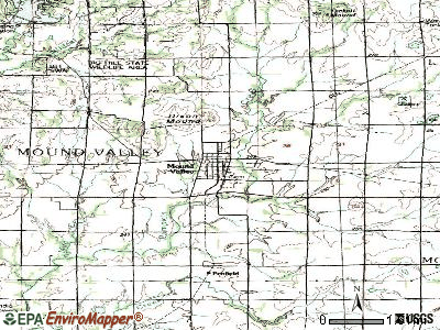 Mound Valley topographic map