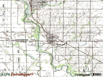 Mulvane topographic map