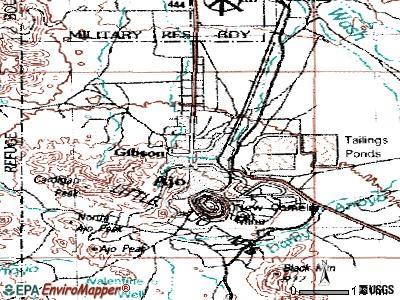 Ajo topographic map