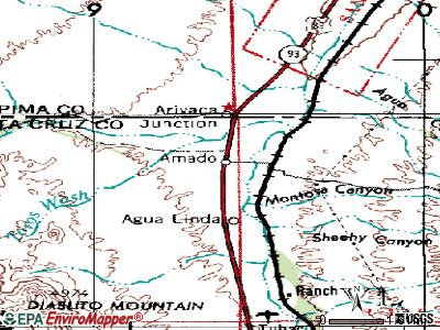Amado topographic map