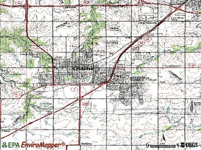 Olathe topographic map