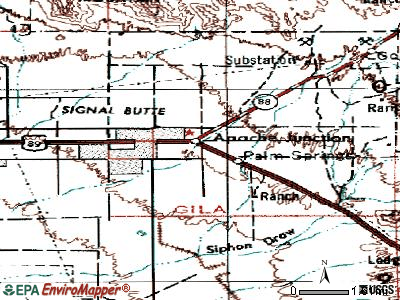 Apache Junction topographic map