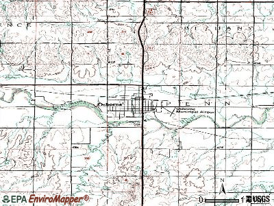 Osborne topographic map